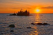 Islands in Lake Superior at sunrise<br /> Haviland Shores<br /> Ontario<br /> Canada