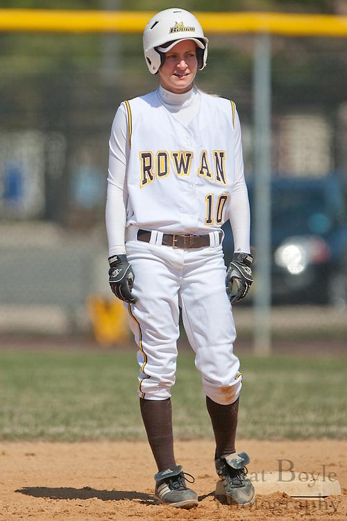 Rowan University senior infielder Ashley Landi (10)