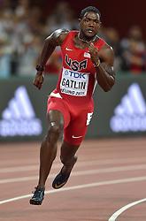 25-08-2015 CHN: IAAF World Championships Athletics day 4, Beijing<br /> Justin Gatlin USA in action at 200 m Men.<br /> Photo by Ronald Hoogendoorn / Sportida
