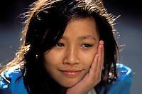 Nepal, Vallée de Kathmandu, Kathmandu, Jeune Fille d'ethnie Newar. // Nepal, Kathmandu valley, youg Newari girl.