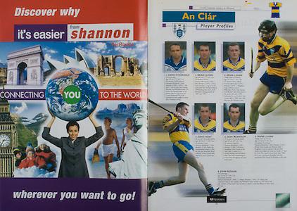 All Ireland Senior Hurling Championship Final,.08.09.2002, 09.08.2002, 8th September 2002,.Senior Kilkenny 2-20, Clare 0-19,.Minor Kilkenny 3-15, Tipperary 1-7,.8092002AISHCF,.Aer Rianta,