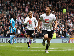 Chris Martin of Derby County celebrates his second goal - Mandatory byline: Robbie Stephenson/JMP - 07966 386802 - 18/10/2015 - FOOTBALL - iPro Stadium - Derby, England - Derby County v Wolverhampton Wanderers - Sky Bet Championship