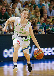 Miha Lapornik of Slovenia during basketball match between National teams of Slovenia and Lithuania in Preliminary Round of U20 Men European Championship Slovenia 2012, on July 14, 2012 in Domzale, Slovenia. Slovenia defeated Lithuania 87-81. (Photo by Vid Ponikvar / Sportida.com)