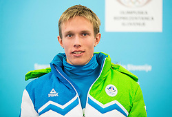 Miha Licef during presentation of Slovenian Young Athletes before departure to EYOF (European Youth Olympic Festival) in Vorarlberg and Liechtenstein, on January 21, 2015 in Bled, Slovenia. Photo by Vid Ponikvar / Sportida