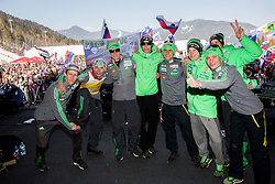 Peter Prevc, Robert Kranjec, Anzdraz Pograjc, Anze Semenic, Rok Justin, Domen Prevc, Anze Lanisek, Matjaz Pungertar at concert of Mi2 music group at VAL 202 tent after Ski Flying Hill Individual Competition at Day 4 of FIS Ski Jumping World Cup Final 2016, on March 20, 2016 in Planica, Slovenia. Photo by Vid Ponikvar / Sportida
