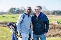 ARNHEM - Atleet Churandy Martina , sprinter op de golfbaan met Edwin Alblas, hoofdredacteur Golf.nl COPYRIGHT KOEN SUYK
