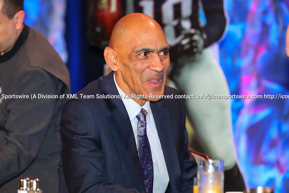 HOUSTON, TX - FEBRUARY 04:  Tony Dungy during the Bart Starr Award Super Bowl Breakfast on February 04, 2017, at the Marriott Marquis in Houston, Texas.  (Photo by Rich Graessle/Icon Sportswire)