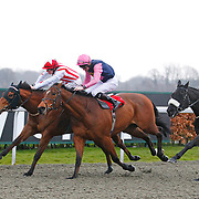 Atlantis Crossing and Matthew Davies winning the 4.20 race
