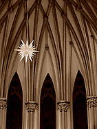 December 2016:  The star of Bethlehem hangs above the altar during advent in The Cathedral of the Incarnation in Garden City, NY.  © Audrey C. Tiernan