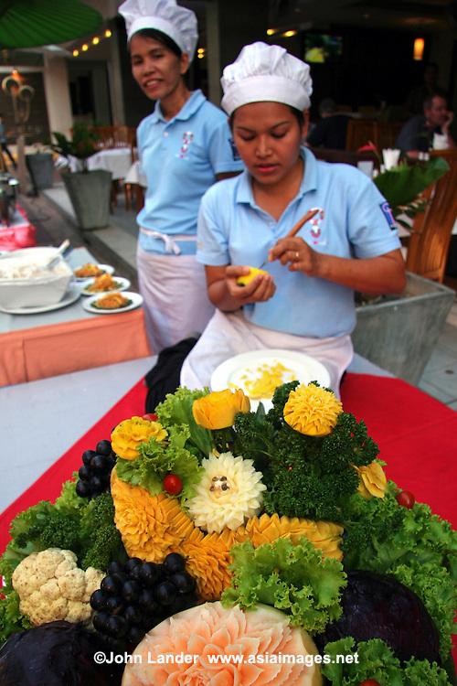 Thai fruit carving phuket john lander photography for Asian cuisine lander