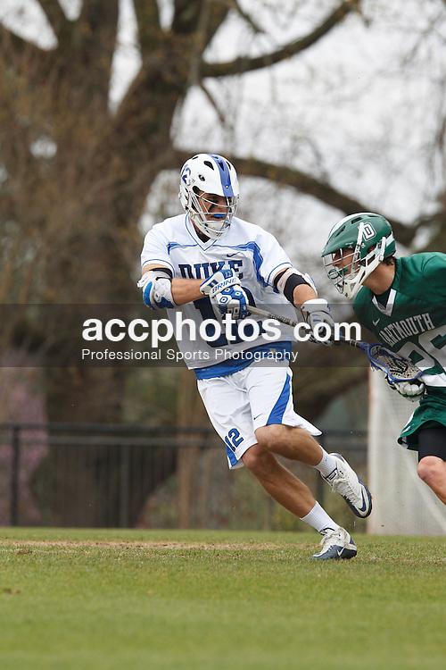 DURHAM, NC - MARCH 18: Justin Turri #12 of the Duke Blue Devils during a game against the Dartmouth Big Green on March 18, 2012 at Koskinen Stadium in Durham, North Carolina. Duke won 9-20. (Photo by Peyton Williams/Getty Images) *** Local Caption *** Justin Turri
