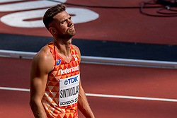 11-08-2017 IAAF World Championships Athletics day 8, London<br /> Eelco Sintnicolaas NED (tienkamp) wordt achtste in zijn heat op de 100 m.