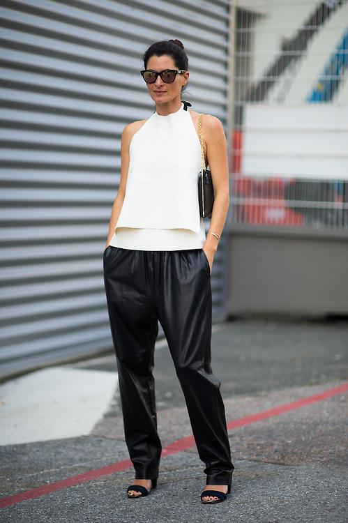 Black Leather Pants, Outside Dries van Noten