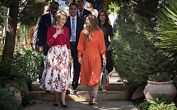 October 25, 2016 - Amman, JORDAN - Queen Mathilde of Belgium and Queen Rania of Jordan pictured during a visit to the Jordan River Foundation showroom on the third day of a humanitarian work visit of the Belgian Queen and the Belgian Federal Minister of Cooperation Development to Jordan, on Tuesday 25 October 2016, in Amman, Jordan. BELGA PHOTO BENOIT DOPPAGNE (Credit Image: © Benoit Doppagne/Belga via ZUMA Press)