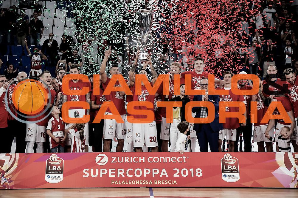 Milano<br /> A | X Armani Exchange Milano - Fiat Auxillium Torino<br /> LBA Lega Basket Serie A<br /> Zurich Connect Supercoppa 2018<br /> Brescia, 30/09/2018<br /> Foto MarcoBrondi / Ciamillo-Castoria