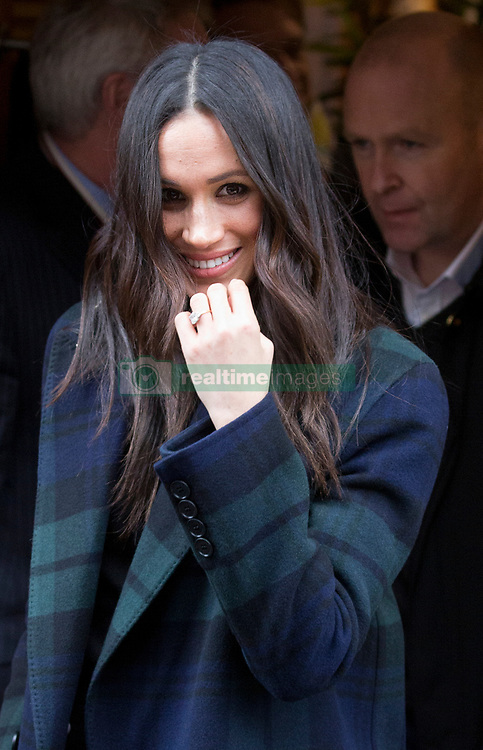 Prince Harry's fiancee Meghan Markle leaves Social Bite, after visiting the social business and cafŽ located in Edinburgh's New Town, during their first joint visit to Scotland. Picture dated: Tuesday February 13, 2018. Photo credit should read: Isabel Infantes / EMPICS Entertainment.