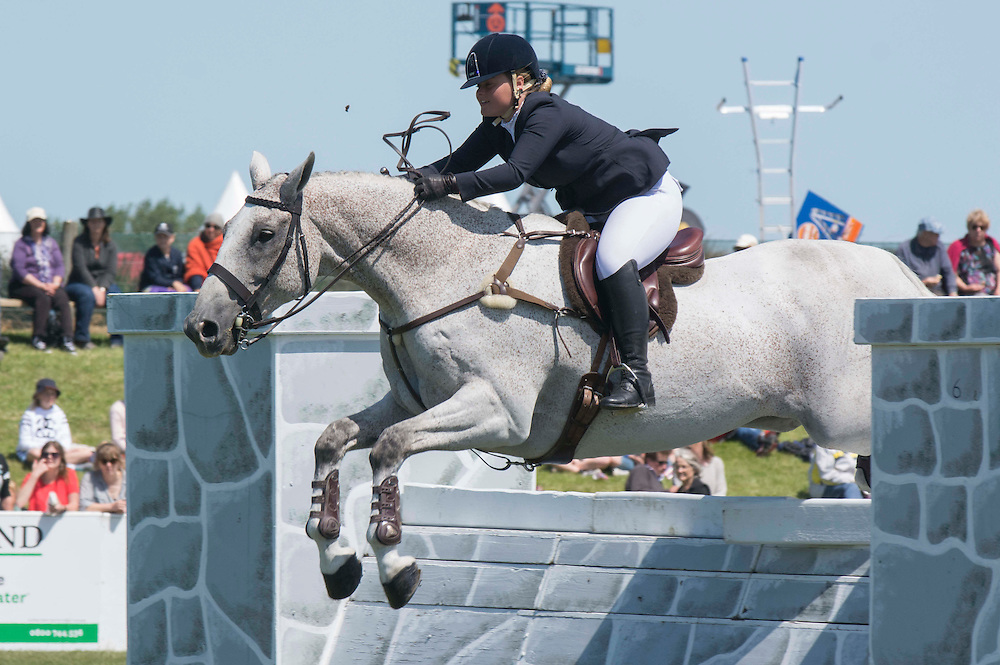 Olivia Mitchell on Washington competes in the Open Hunter event at the Canterbury A&amp;P Show, Christchurch, New Zealand, Friday, 13 November, 2015.<br /> Credit:SNPA / David Alexander