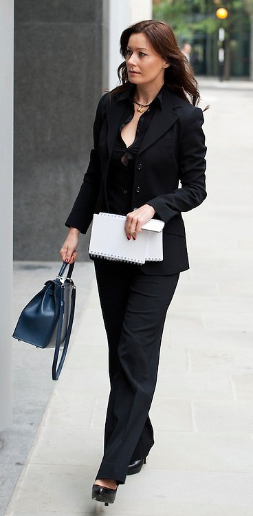 Russian businesswomen  Yelena Gorbunova(Girlfriend to Berezovsky) arrives The High Court on October 13, 2011 in London, England. Mr Berezovsky is alleging a breach of contract over business deals with fellow Russian and Chelsea Football Club owner Roman Abramovich and is claiming more than £3.2bn in damages..