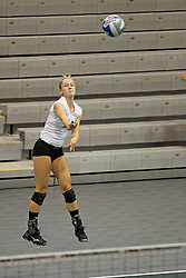 21 September 2013:  Kinzie Schweigert during an NCAA women's division 3 Volleyball match between the Lincoln Christian University Lady Lynx and the Illinois Wesleyan  University Titans in Shirk Center, Bloomington IL