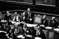 ROME, ITALY - 24 February 2014:  Matteo Renzi, 39, the youngest prime minister in held a spoke to lawmakers before the Senate approved a confidence vote on his new government in Rome, Italy, on February 24th 2014.