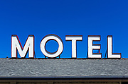 Roadside motel sign.
