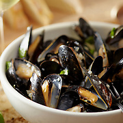 mussels in garlic butter