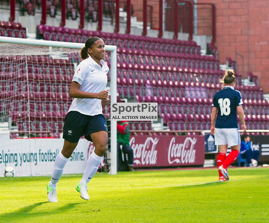 SCOTLAND FRANCE EURO2013 Group 4 game 19 September 2012.Marie-Laure Delie opens the scoring for France as they took on Scotland in their final Group 4 qualifying game at Tynecastle, Edinburgh. 19 September 2012.(c) GER HARLEY | StockPix.eu