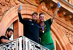 Stuart Broad of Nottinghamshire celebrates winning the Royal London One-Day Cup Final with a member of the coaching staff - Mandatory by-line: Robbie Stephenson/JMP - 01/07/2017 - CRICKET - Lord's Cricket Ground - London, United Kingdom - Nottinghamshire v Surrey - Royal London One-Day Cup Final 2017