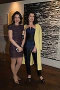 JAMILA ASKAROVA and MILA ASKAROVA at the Whitechapel Gallery Art Icon 2015 Gala dinner supported by the Swarovski Foundation. The Banking Hall, Cornhill, London. 19 March 2015