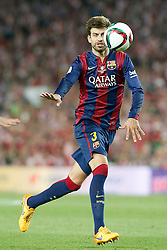 30.05.2015, Camp Nou, Barcelona, ESP, Copa del Rey, Athletic Club Bilbao vs FC Barcelona, Finale, im Bild FC Barcelona's Gerard Pique // during the final match of spanish king's cup between Athletic Club Bilbao and Barcelona FC at Camp Nou in Barcelona, Spain on 2015/05/30. EXPA Pictures © 2015, PhotoCredit: EXPA/ Alterphotos/ Acero<br /> <br /> *****ATTENTION - OUT of ESP, SUI*****