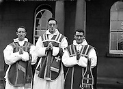 Ordinations at Holy Cross College, Clonliffe...56 priests were ordained by his Grace Most Reverend Dr. Charles McQuaid, Archbishop of Dublin and Primate of Ireland at Holy Cross College Clonliffe..10.07.1960