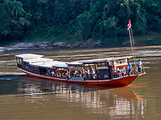 Laos. Luang Say Cruise on the Mekong. Arriving at Luang Say Lodge.