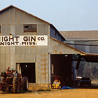 The Midnight Gin comes alive during cotton harvest when it turns  out bales of cotton on old Highway 49 between Louise and Silver City.