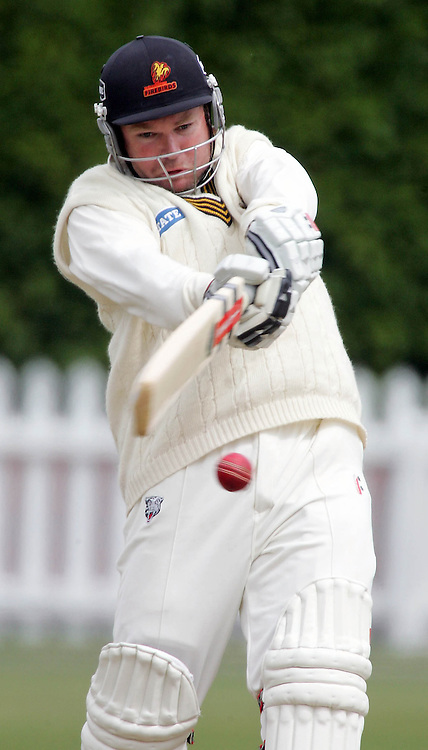 Wellingtons Michael Parlane plays a shot during day 3 of the State Championship cricket match between the Wellington Firebirds and the Canterbury Wizards played at the Basin Reserve, Wellington, New Zealand, on Wednesday February 20, 2007. Photo: PHOTOSPORT
