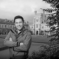 "FREE IMAGE-NO REPRO FEE. Popular BBC TV science presenter and botanist James Wong is to deliver a free, public talk at University College Cork, ""Grow your own way"". The talk is specifically designed for those interested in studying plants, plant science and horticulture but is sure to also attract members of the public with a passion for the natural world and plants in general. This event will take place on Thursday 23 January from 7pm in Boole Lecture Theatre Three, UCC. The event is free and open to all but requires pre-registration. James Wong is a botanist, BBC broadcaster and internationally best-selling author who trained at the Royal Botanic Gardens, Kew in London. His award-winning TV show 'Grow Your Own Drugs' became the UK's top rated gardening series, broadcasted around the world and translated into six languages. He is also the youngest ever panellist on Radio 4's ' Gardener's Question Time' and one of the UK's top garden designers, having won five Royal Horticulture Society medals, including two golds at the Chelsea Flower Show. James is photographed on Campus prior to his talk. Photo by Tomas Tyner, UCC."
