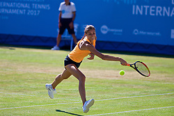 LIVERPOOL, ENGLAND - Saturday, June 17, 2017: Corinna Dentoni (ITA) during Day Three of the Liverpool Hope University International Tennis Tournament 2017 at the Liverpool Cricket Club. (Pic by David Rawcliffe/Propaganda)