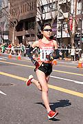 Japan's Misato Horie (#116) in the Nagoya Women's Marathon, 2012.