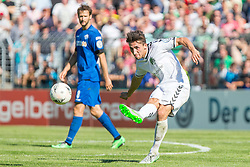 09.08.2015, Stadion Lohmühle, Luebeck, GER, DFB Pokal, VfB Luebeck vs SC Paderborn 07, 1. Runde, im Bild Aleksander Nogovic (Nr. 6, VfB Luebeck) // during German DFB Pokal first round match between VfB Luebeck vs SC Paderborn 07 at the Stadion Lohmühle in Luebeck, Germany on 2015/08/09. EXPA Pictures © 2015, PhotoCredit: EXPA/ Eibner-Pressefoto/ KOENIG<br /> <br /> *****ATTENTION - OUT of GER*****