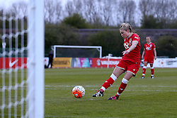 Millie Farrow of Bristol City Women scores a goal from a penalty - Mandatory by-line: Robbie Stephenson/JMP - 28/04/2016 - FOOTBALL - Stoke Gifford Stadium - Bristol, England - Bristol City Women v Aston Villa Ladies - FA Women's Super League 2