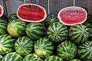 Watermelon at Benito Juarez market in Oaxaca, Mexico.