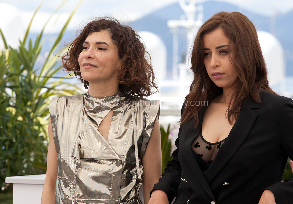 Lubna Azabal and Nisrin Erradi at the Adam film photo call at the 72nd Cannes Film Festival, Monday 20th May 2019, Cannes, France. Photo credit: Doreen Kennedy