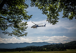 Helicopter of Eurosport during Stage 1 of 24th Tour of Slovenia 2017 / Tour de Slovenie from Koper to Kocevje (159,4 km) cycling race on June 15, 2017 in Slovenia. Photo by Vid Ponikvar / Sportida