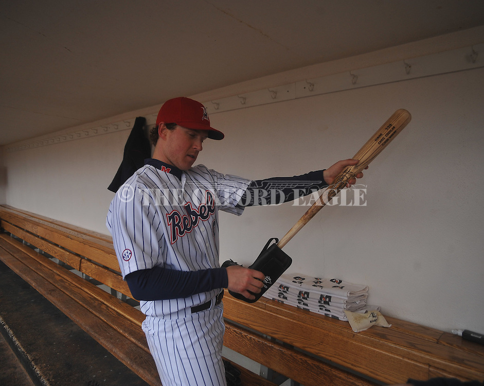 Chris Coghlan of the Florida Marlins at Ole Miss baseball alumni game at Oxford-University Stadium in Oxford, Miss. on Saturday, February 5, 2011.