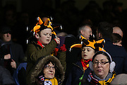 Young Cambridge fans during the The FA Cup match between Cambridge United and Manchester United at the R Costings Abbey Stadium, Cambridge, England on 23 January 2015. Photo by Phil Duncan.