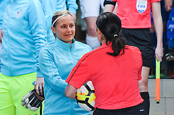 Dominika Conc of Slovenia during women football match between National teams of Slovenia and Iceland in 2019 FIFA Women's World Cup qualification, on April 06, 2018 in Sportni park Lendava, Lendava, Slovenia. Photo by Mario Horvat / Sportida