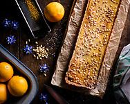 Orange ricotta tart, Brechin