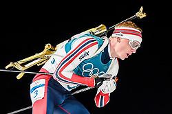 February 18, 2018 - Pyeongchang, Gangwon, South Korea - Johannes Thingnes Boe of Norway competing in  15 km mass start biathlon at Alpensia Biathlon Centre, Pyeongchang,  South Korea on February 18, 2018. (Credit Image: © Ulrik Pedersen/NurPhoto via ZUMA Press)