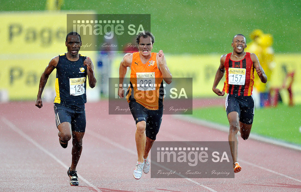 GERMISTON, SOUTH AFRICA, Saturday 25 February 2011, mens 200m during the Yellow Pages Interprovincial held at the Herman Immelman stadium..Photo by ImageSA/ASA