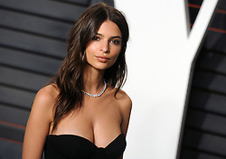 Emily Ratajkowski arrives at the 2016 Vanity Fair Oscar Party Hosted By Graydon Carter at Wallis Annenberg Center for the Performing Arts on February 28, 2016 in Beverly Hills, California. EXPA Pictures © 2016, PhotoCredit: EXPA/ Photoshot/ Dennis Van Tine<br />