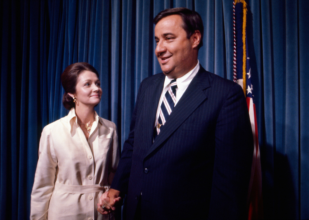 Bert Lance, director of the U.S. Office of Management and Budget under President Jimmy Carter. Lance is standing with his wife, LaBelle.